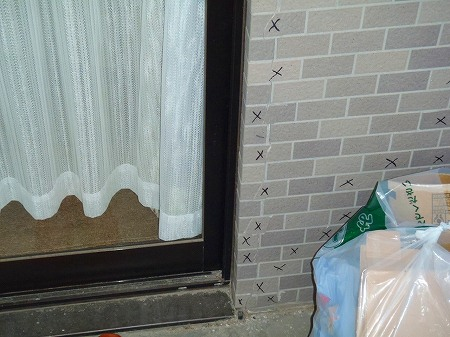 03 バルコニー内壁の震災によるクラック