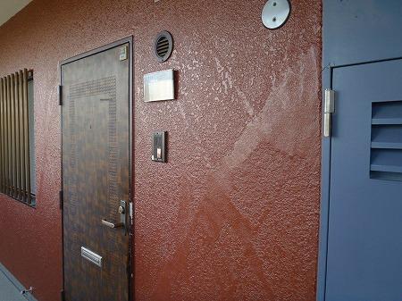開放廊下壁 施工完了07.16
