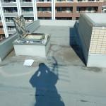 屋上防水層からの漏水 塩ビシート機械固定工法 2021.05