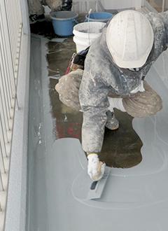 バルコニー床防水工事の工法