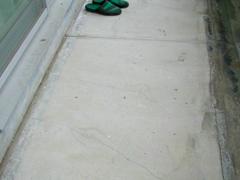 バルコニー床塩ビ防滑シート貼り防水工事の工程1