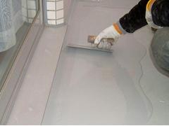 バルコニー床塩ビ防滑シート貼り防水工事の工程6