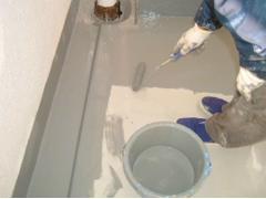 バルコニー床塩ビ防滑シート貼り防水工事の工程7