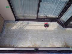 バルコニー床塩ビ防滑シート貼り防水工事の工程3
