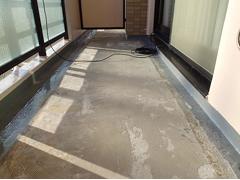 バルコニー床塩ビ防滑シート貼り防水工事の工程8