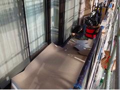 バルコニー床塩ビ防滑シート貼り防水工事の工程10