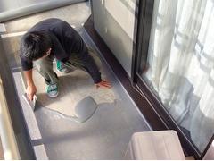 バルコニー床塩ビ防滑シート貼り防水工事の工程11