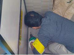 バルコニー床塩ビ防滑シート貼り防水工事の工程13
