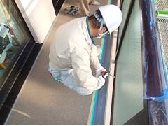 バルコニー床塩ビ防滑シート貼り防水工事の工程14