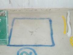 エポキシ樹脂ピン注入工法(床面モルタル浮きの場合)手順1