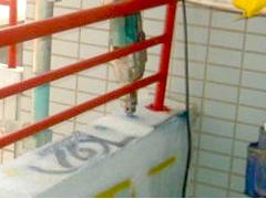 エポキシ樹脂ピン注入工法(モルタル笠木浮きの場合)手順2