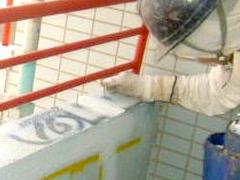 エポキシ樹脂ピン注入工法(モルタル笠木浮きの場合)手順5