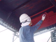鉄骨階段塗装工程2