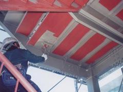 鉄骨階段塗装工程3