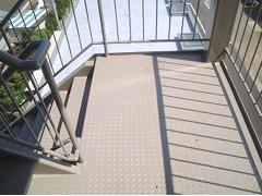 鉄骨階段塗装工程5