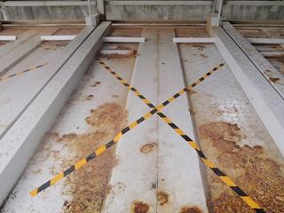 機械式駐車場パレットの劣化と安全性の低下2