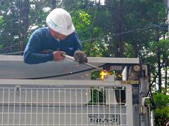 機械式駐車場解体・舗装の工程2