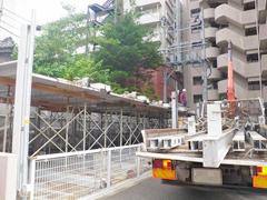 機械式駐車場解体・舗装の工程3