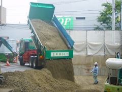 機械式駐車場解体・舗装の工程10