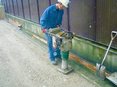 機械式駐車場解体・舗装の工程13