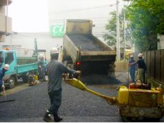 機械式駐車場解体・舗装の工程16