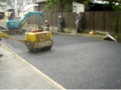 機械式駐車場解体・舗装の工程17