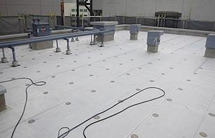 Rバルコニー塩ビシート防水通気緩衝シート貼り