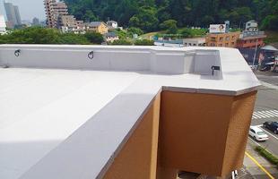 低層棟パラペット防水 施工完了