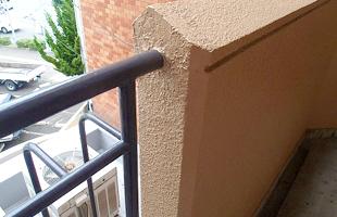 手摺壁爆裂補修 完了