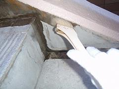 RC避難階段塩ビシート貼りの工程6