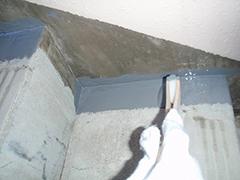 RC避難階段塩ビシート貼りの工程7