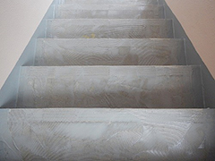 RC避難階段塩ビシート貼りの工程9