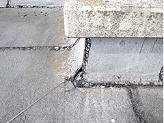 露出防水層の劣化現象8