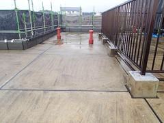 ウレタン塗膜防水工法 施工の状況3