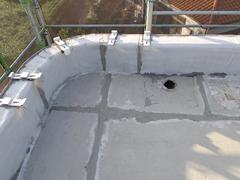 ウレタン塗膜防水工法 施工の状況10