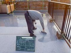 ウレタン塗膜防水工法 施工の状況17