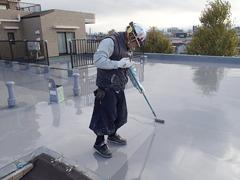 ウレタン塗膜防水工法 施工の状況22