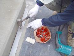 塩ビシート防水 機械固定式工法 施工の状況3
