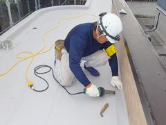 塩ビシート防水 機械固定式工法 施工の状況9