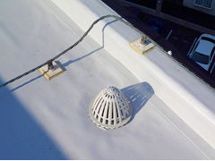 塩ビシート防水 機械固定式工法 施工の状況12