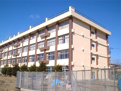 仙台市立上杉中学校耐震改修塗装工事イメージ