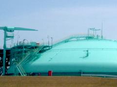 仙台市ガス局港工場LNGタンクイメージ