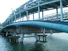 宮城県工業用水管橋塗装工事イメージ
